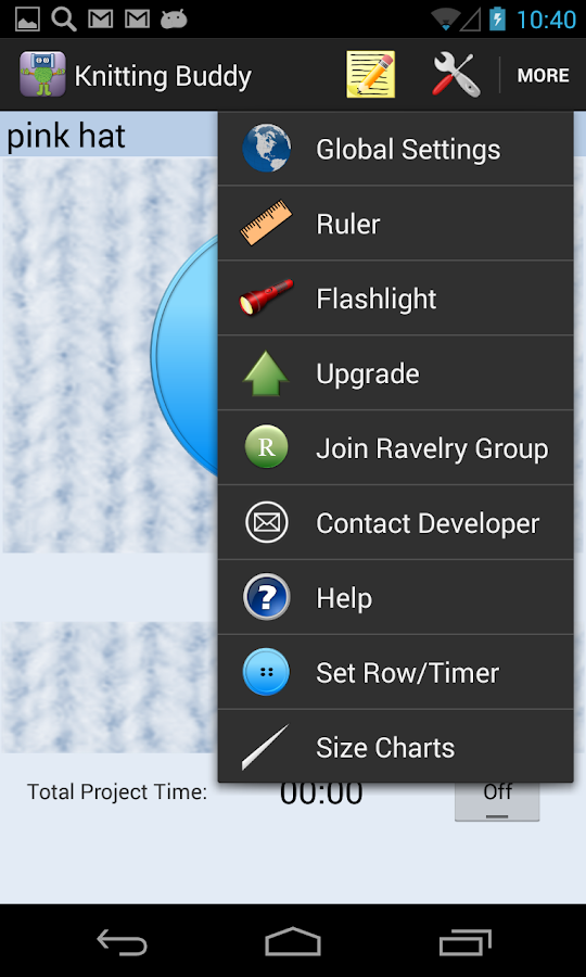 Knitting Row Counter App Android : Knitting and crochet buddy android apps on google play