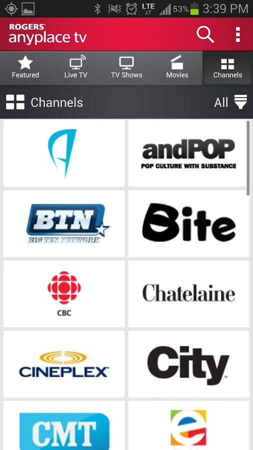 Rogers Anyplace TV [Expired]- screenshot