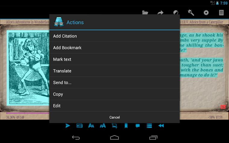 AlReader -any text book reader Screenshot