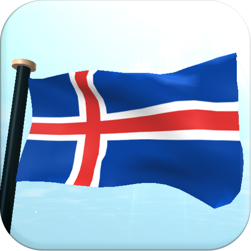 Iceland Flag 3D Live Wallpaper