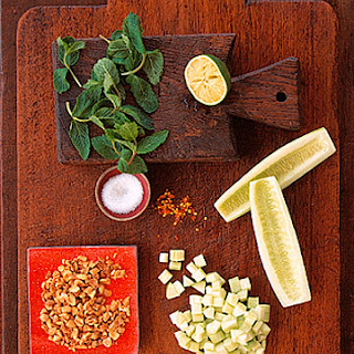 Chopped Cucumber and Peanut Salad