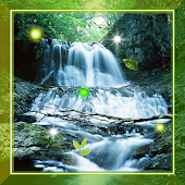 Waterfall Gold live wallpaper