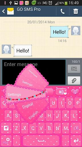 ピンクの愛のGOキーボード
