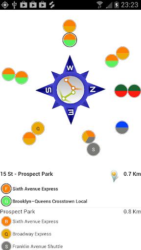 New York Subway Compass