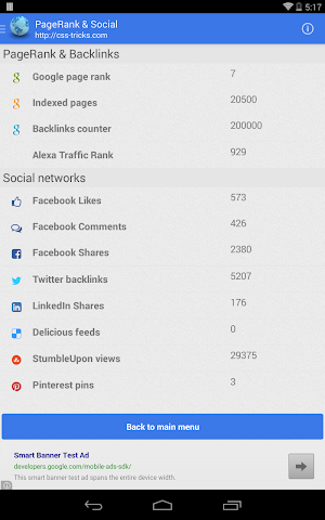 Screenshots for Website and SEO Toolbox