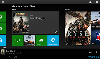 Screenshot of Xbox One SmartGlass Beta