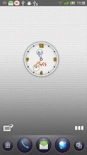 ざっくぅアナログ時計ウィジェット- screenshot thumbnail