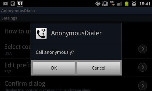 AnonymousDialer- screenshot thumbnail