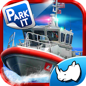 Police Boat Parking : 3D Race