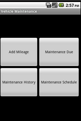 Vehicle Maintenance Schedule