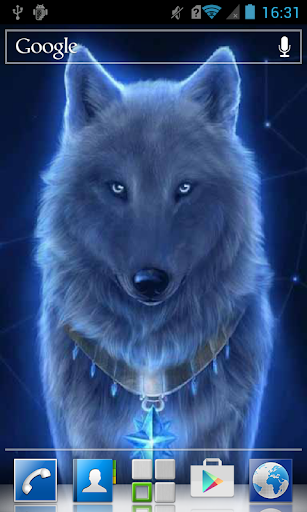 Blue almighty wolf LWP