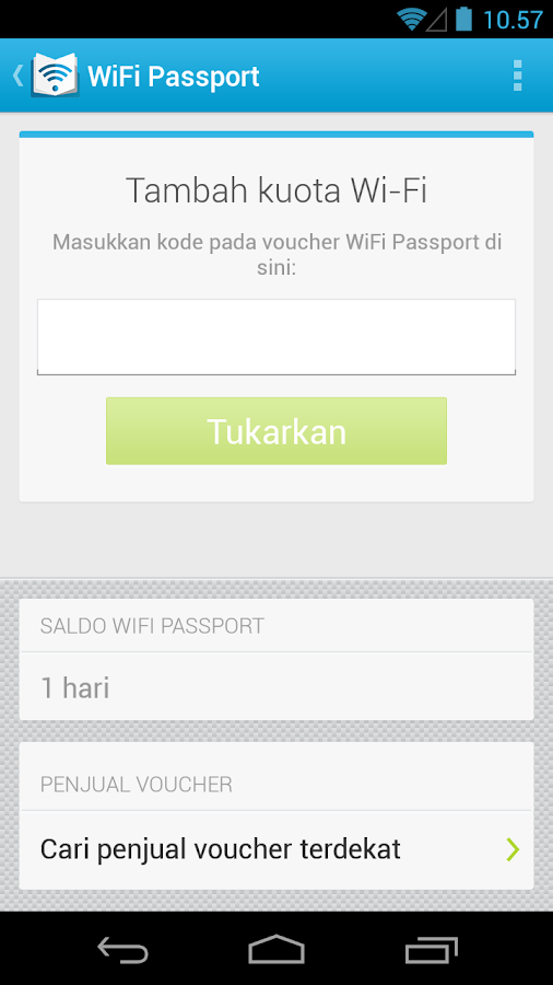 WiFi Passport - screenshot
