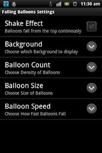 Balloons Falling LWP - screenshot thumbnail