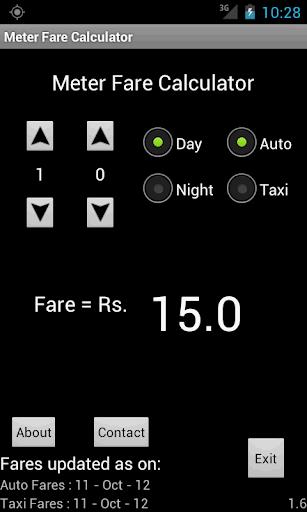 Mumbai Meter Fare Calculator