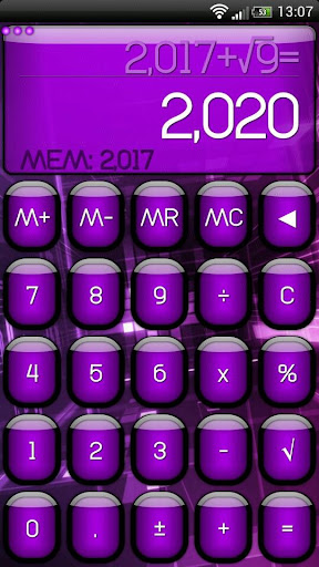 SCalc theme Jelly Purple