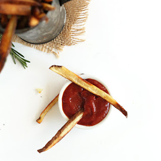 Crispy Baked Garlic Matchstick Fries