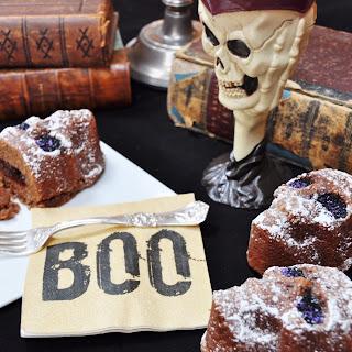 Vegan Red Velvet Skull Cakes.