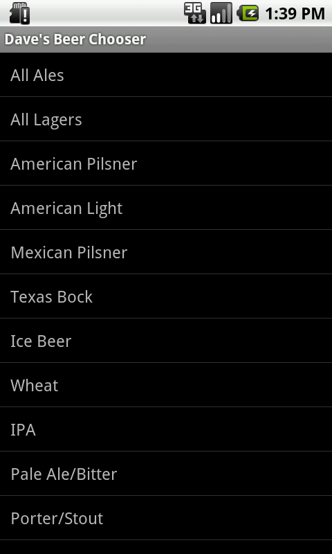 Beer Chooser - screenshot