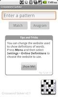 Screenshot of Crossword Solver