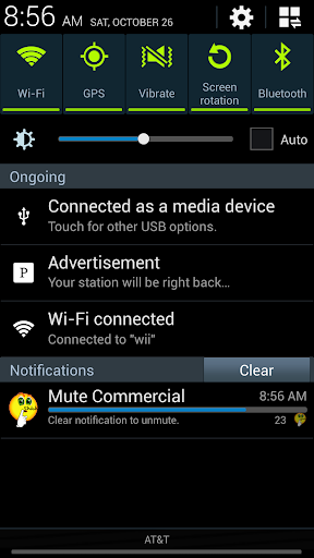 Commercial muting Ad muter