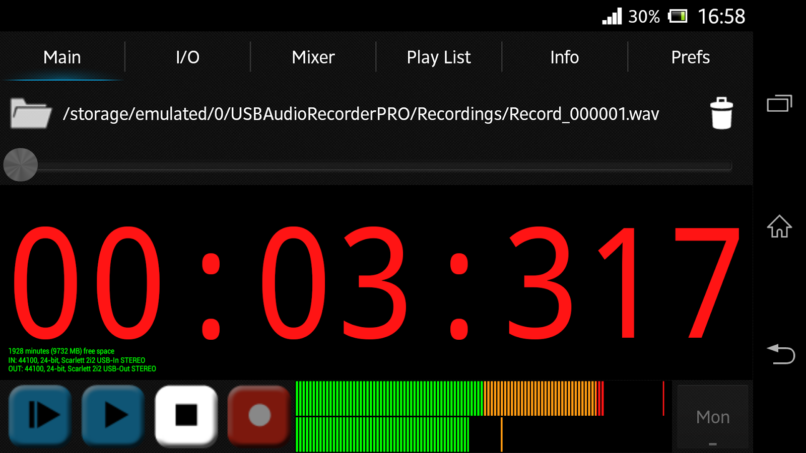 USB Audio Recorder PRO - screenshot