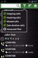 Screenshot of Call Stats & caller ID