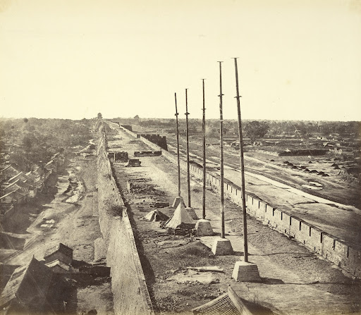 [Top of the Wall from Anting Gate, Peking, Possession taken by English and French Troops]