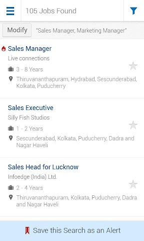 Screenshots for Naukricom Job Search