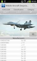 Screenshot of Mobile Aircraft Encyclopedia