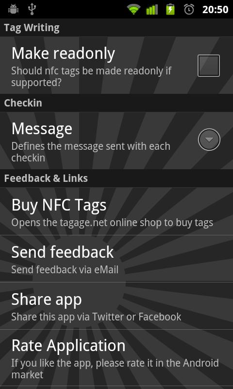 NFC Checkin- screenshot