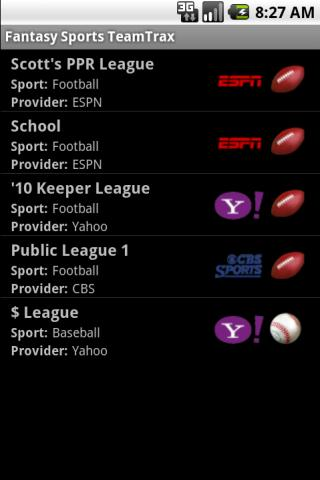 Fantasy Sports TeamTrax - screenshot