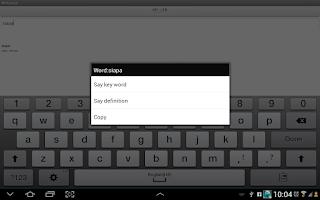 Screenshot of Dictionary English-Malay