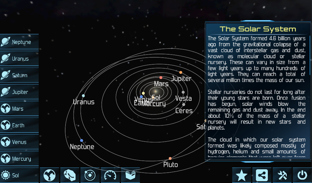 Solar System Explorer HD - screenshot