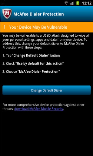 McAfee Dialer Protection