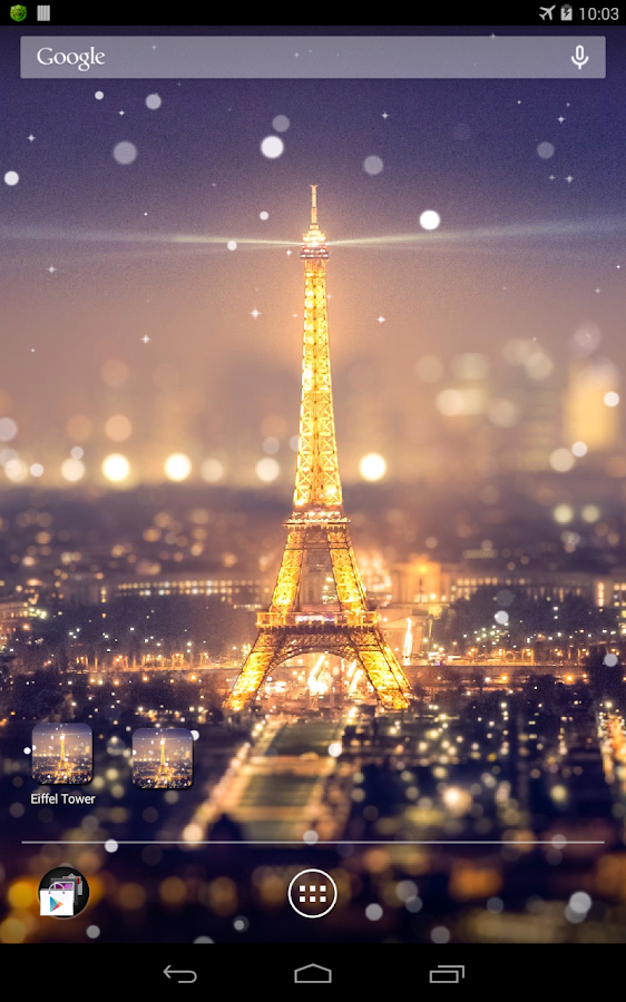 Paris Night Light LWP - screenshot