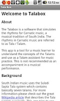 Screenshot of Carnatic Music TalaBox - Basic