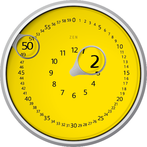 ZEN MAGNIFY YELLOW WATCH FACE