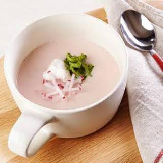 Creamy Radish Soup.