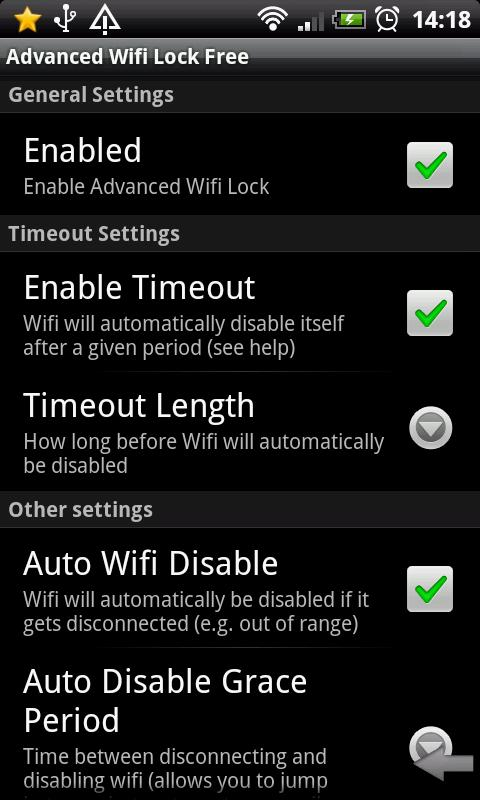 Advanced Wifi Lock (Free) - screenshot