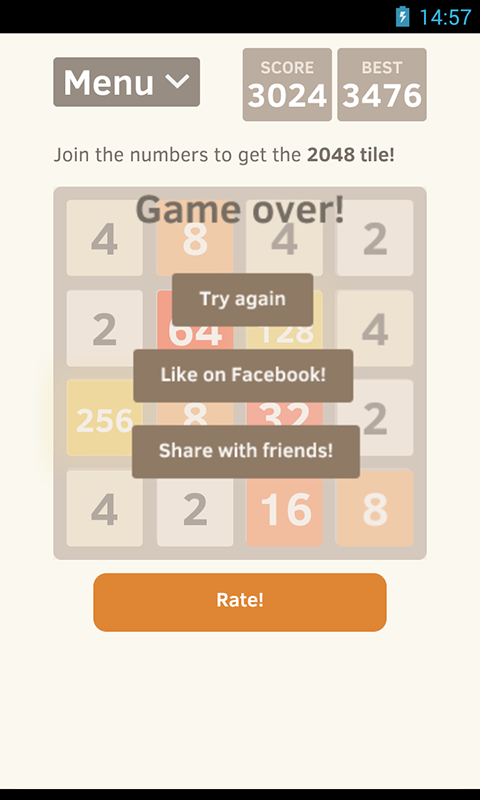 2048 for Android - screenshot