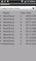 Screenshot of Multi MasterMind