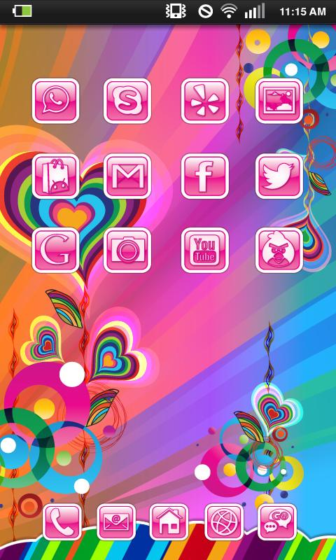 Pink Groovy Heart Theme Pack - screenshot