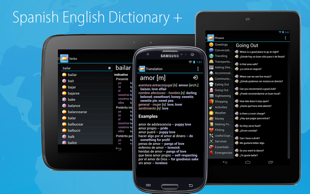 Spanish English Dictionary + - screenshot