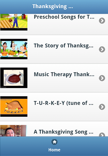 Thanksgiving Kids Songs