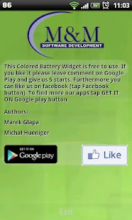 Colored Battery Widget - screenshot thumbnail