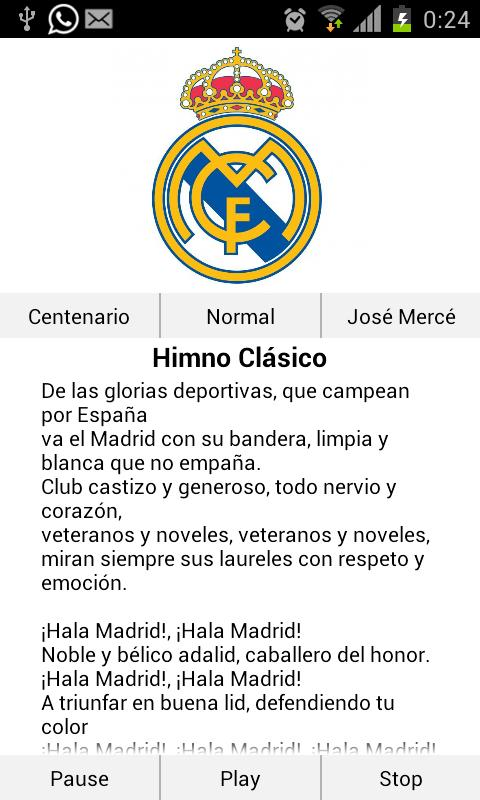 Real Madrid Himno - screenshot