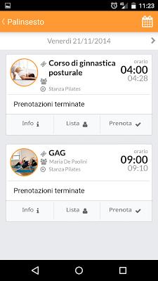 APP - Palestre - screenshot