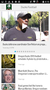 OregonLive: Ducks Football- screenshot thumbnail