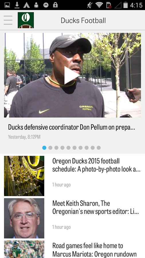 OregonLive: Ducks Football- screenshot