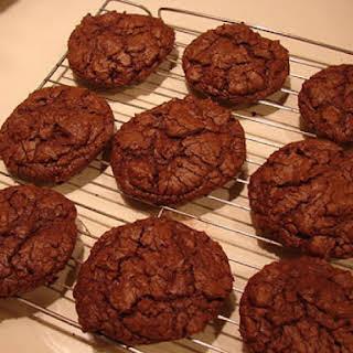 Absolutely Deep Dark Chocolate Fudge Cookies.